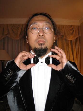 takashi murakami rockin the bowtie.....