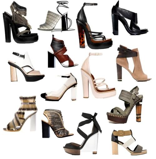 block heels vary