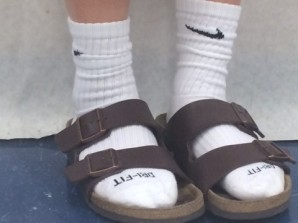 birk and socks