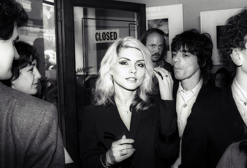 Debbie Harry of Blondie at the opening og Blondie in Camera exhibition Mirandy Gallery London 1978